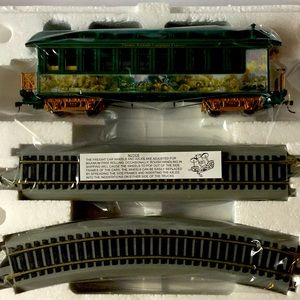 Thomas Kinkade Lamplight Bridge Observation Car